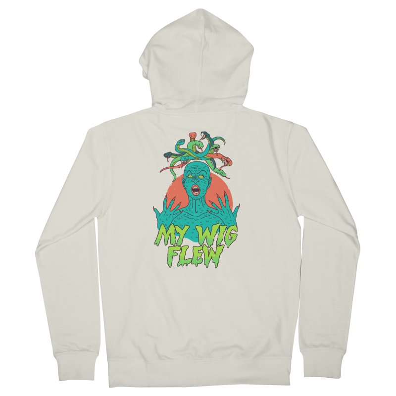My Wig Flew Women's French Terry Zip-Up Hoody by Hillary White