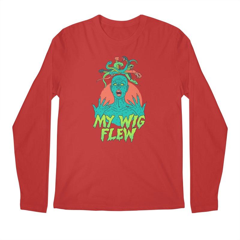 My Wig Flew Men's Regular Longsleeve T-Shirt by Hillary White
