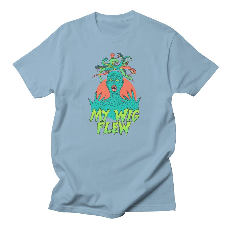 My Wig Flew Men's Regular T-Shirt by Hillary White