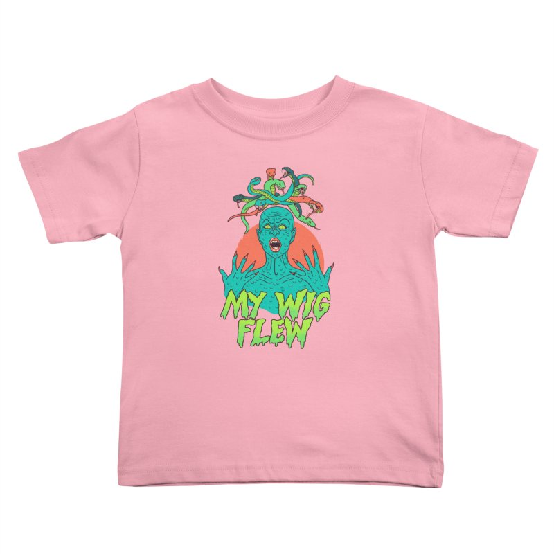 My Wig Flew Kids Toddler T-Shirt by Hillary White
