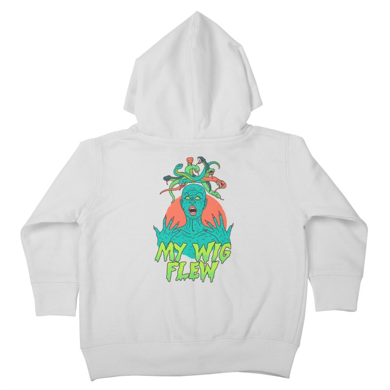 My Wig Flew Kids Toddler Zip-Up Hoody by Hillary White