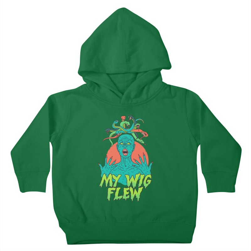 My Wig Flew Kids Toddler Pullover Hoody by Hillary White