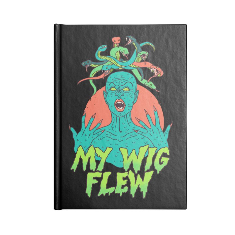 My Wig Flew Accessories Blank Journal Notebook by Hillary White
