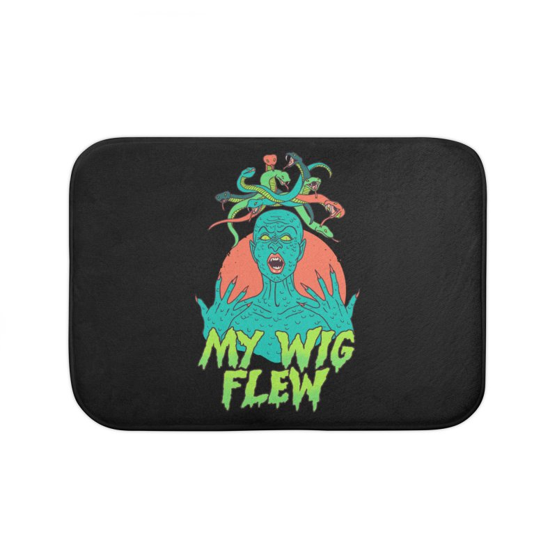 My Wig Flew Home Bath Mat by Hillary White