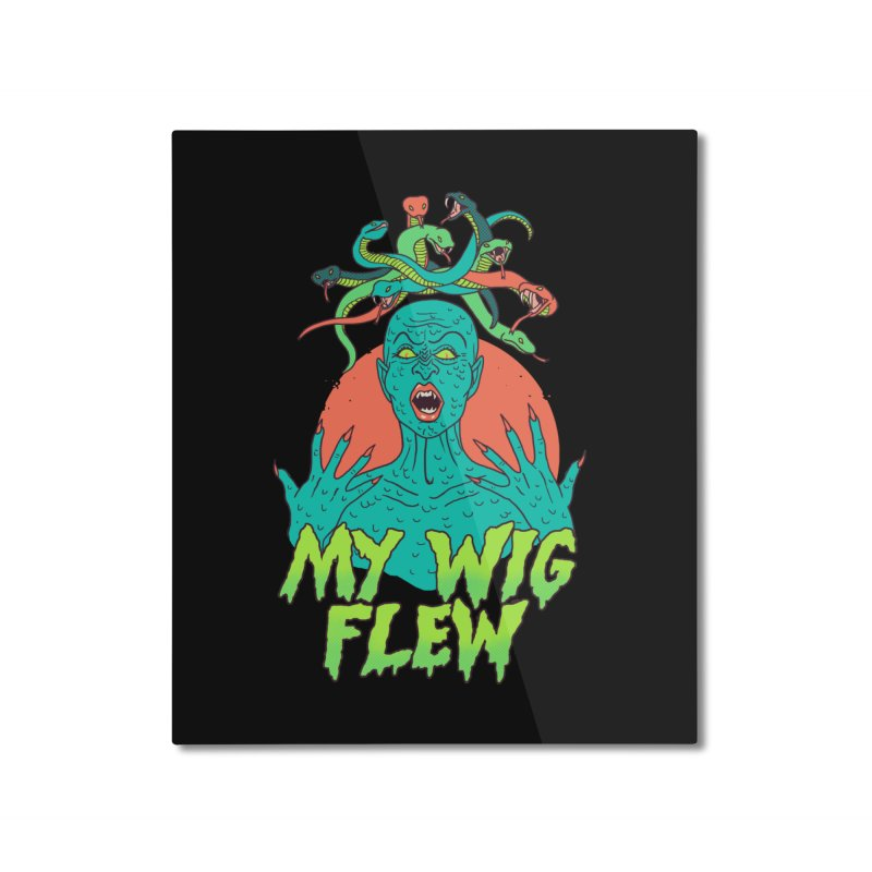 My Wig Flew Home Mounted Aluminum Print by Hillary White