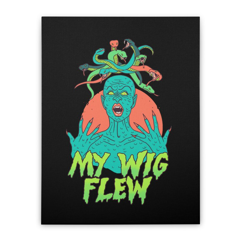My Wig Flew Home Stretched Canvas by Hillary White