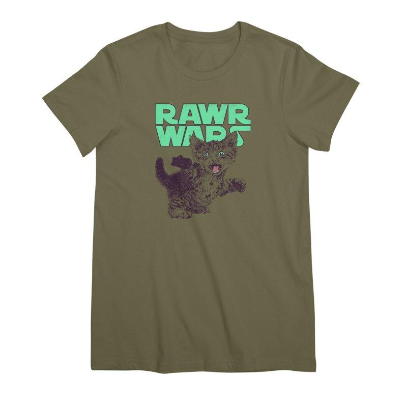 Rawr Wars Women's Premium T-Shirt by Hillary White