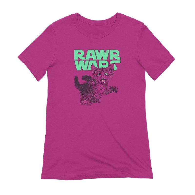 Rawr Wars Women's Extra Soft T-Shirt by Hillary White