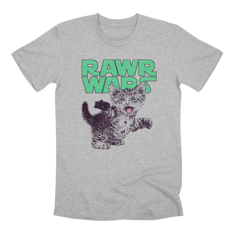 Rawr Wars Men's Premium T-Shirt by Hillary White