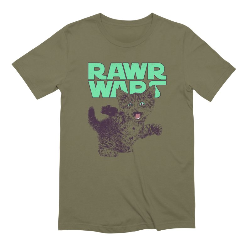 Rawr Wars Men's Extra Soft T-Shirt by Hillary White
