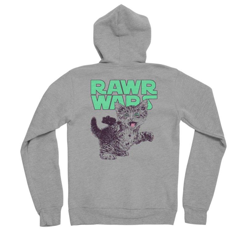 Rawr Wars Women's Sponge Fleece Zip-Up Hoody by Hillary White
