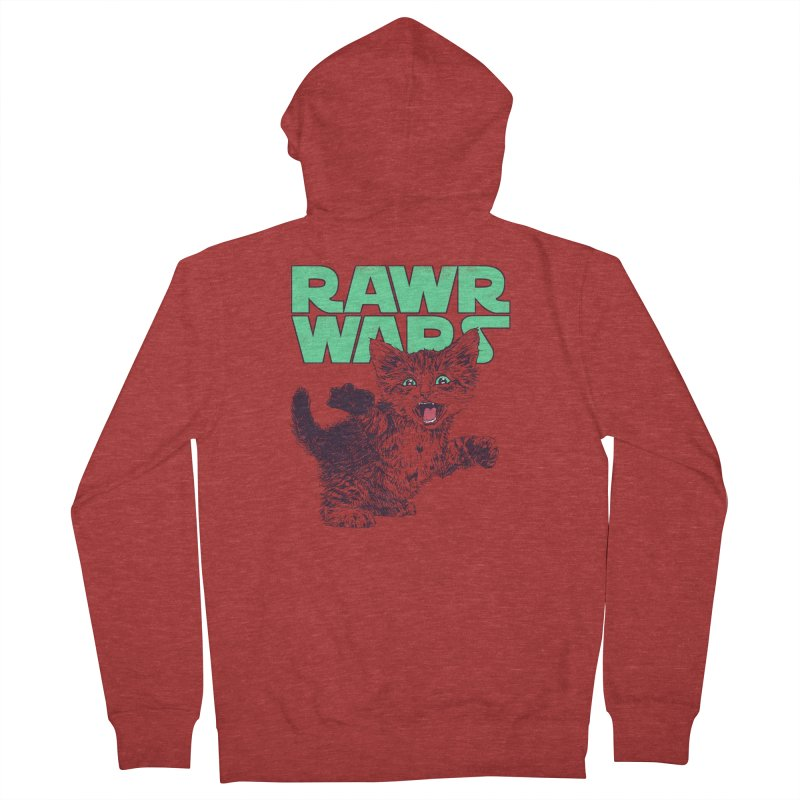 Rawr Wars Women's French Terry Zip-Up Hoody by Hillary White