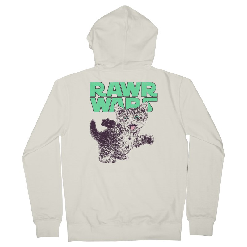 Rawr Wars Men's French Terry Zip-Up Hoody by Hillary White
