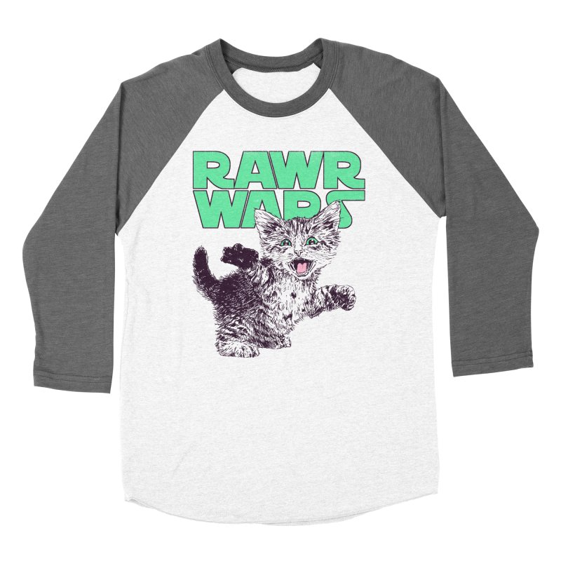 Rawr Wars Men's Baseball Triblend Longsleeve T-Shirt by Hillary White