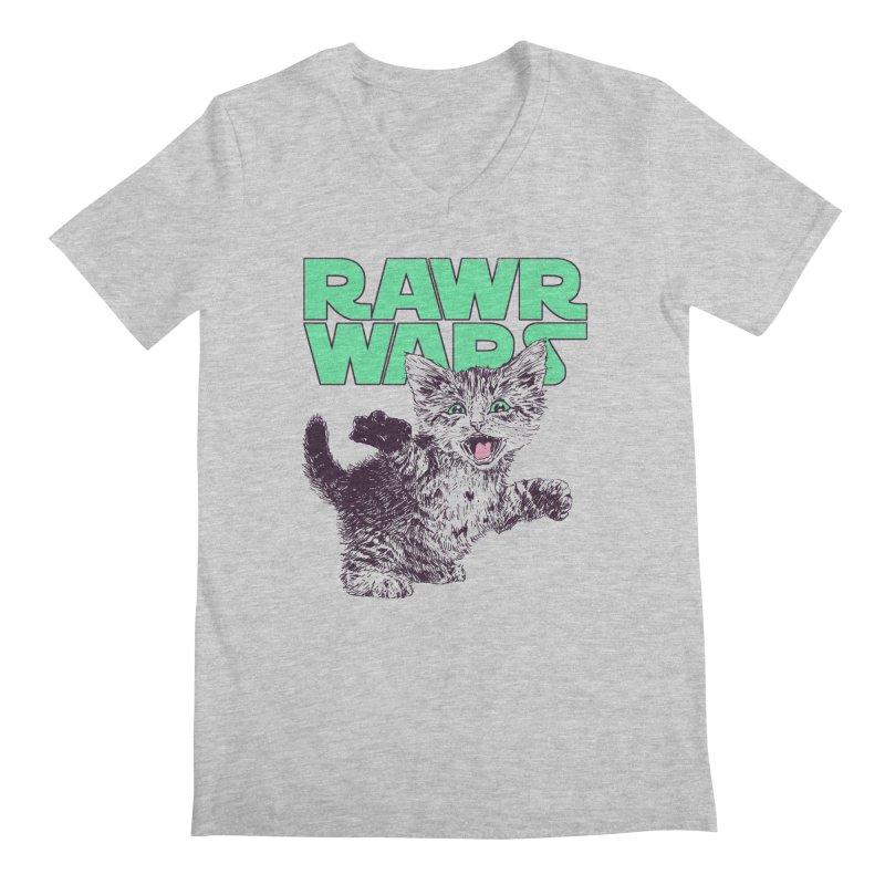 Rawr Wars Men's Regular V-Neck by Hillary White