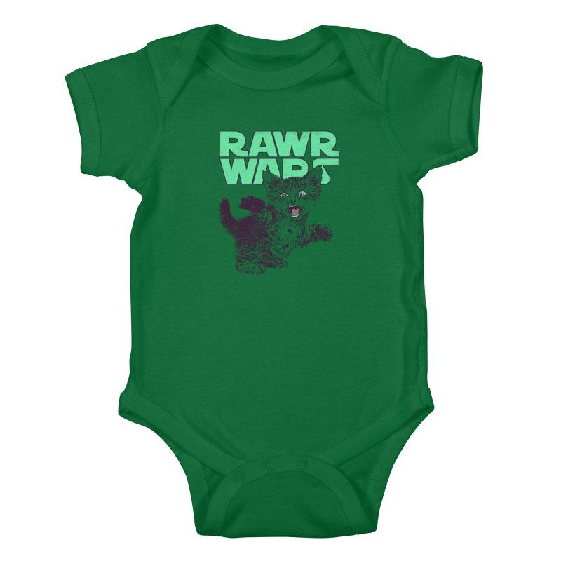 Rawr Wars Kids Baby Bodysuit by Hillary White