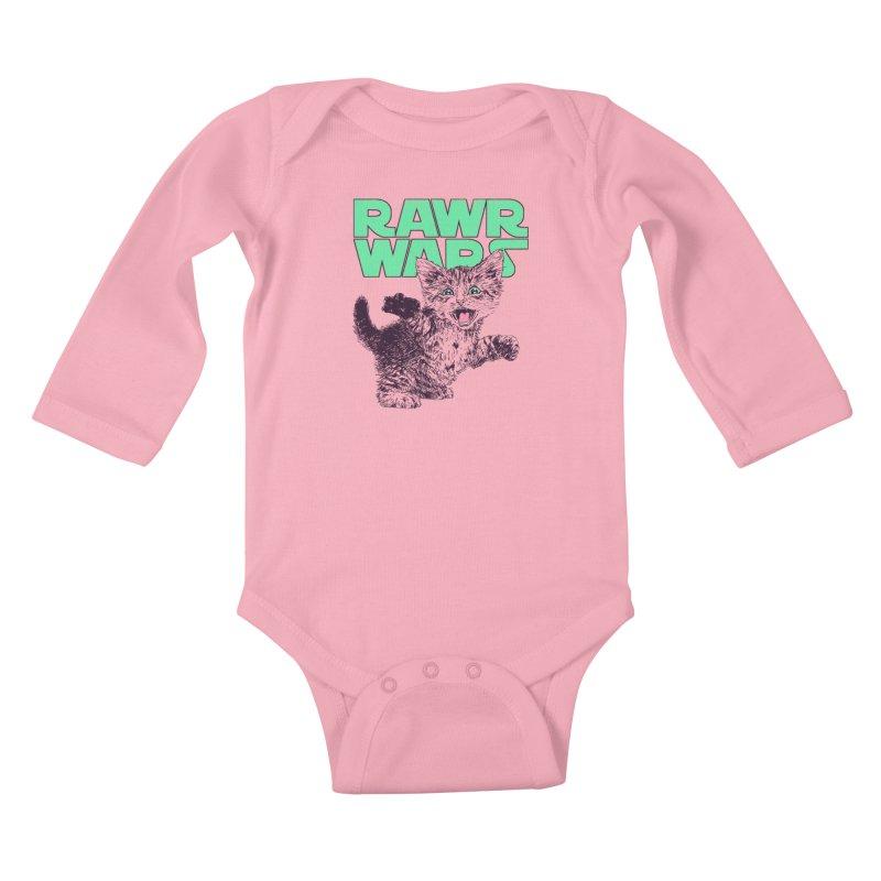 Rawr Wars Kids Baby Longsleeve Bodysuit by Hillary White