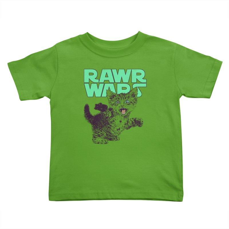 Rawr Wars Kids Toddler T-Shirt by Hillary White