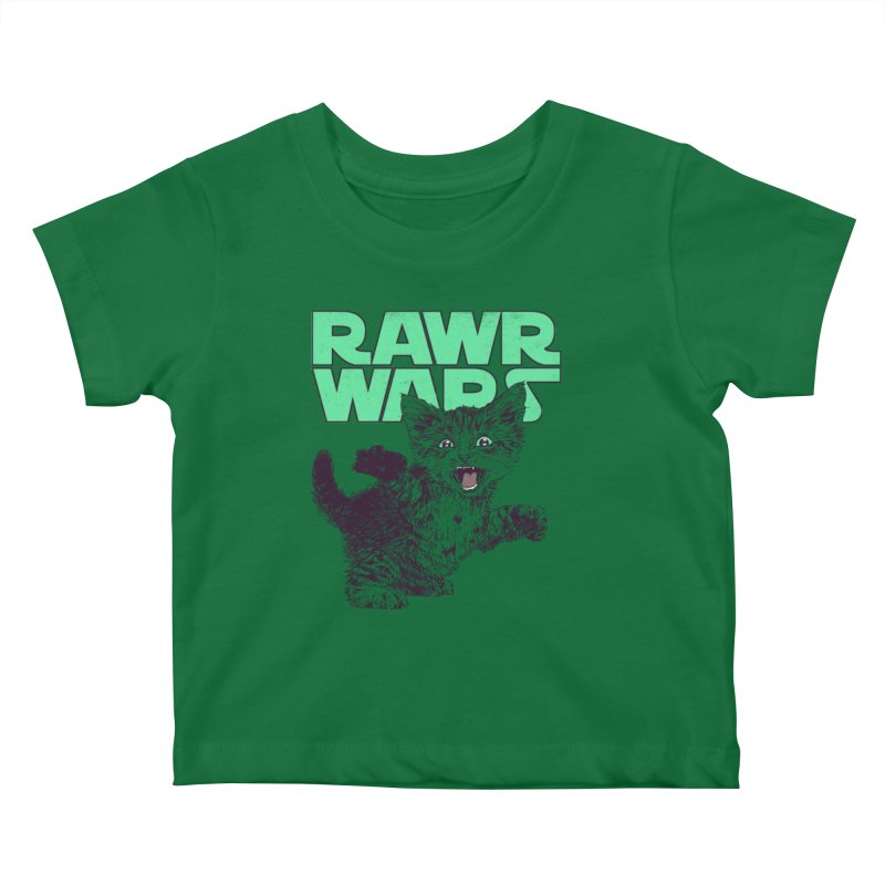 Rawr Wars Kids Baby T-Shirt by Hillary White