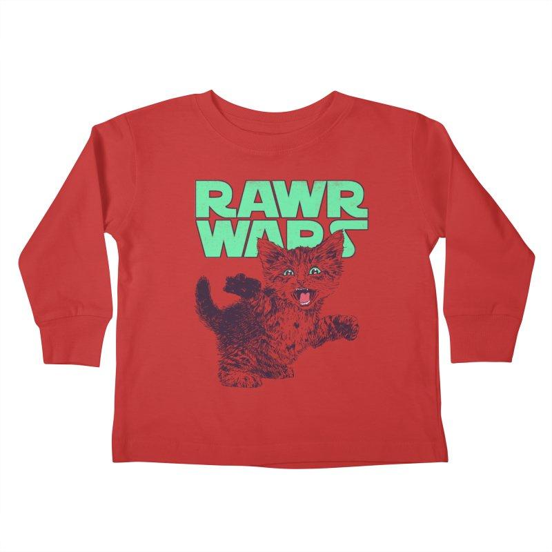 Rawr Wars Kids Toddler Longsleeve T-Shirt by Hillary White
