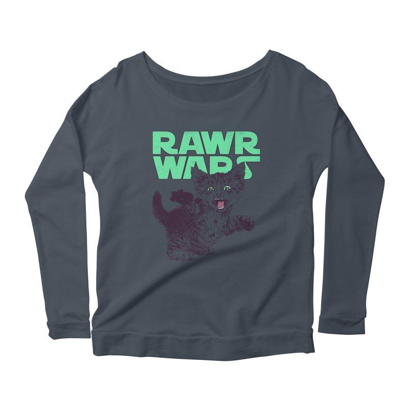 Rawr Wars Women's Scoop Neck Longsleeve T-Shirt by Hillary White