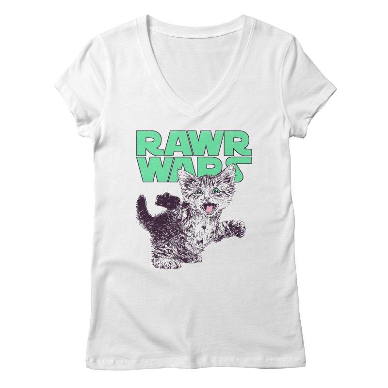 Rawr Wars Women's Regular V-Neck by Hillary White