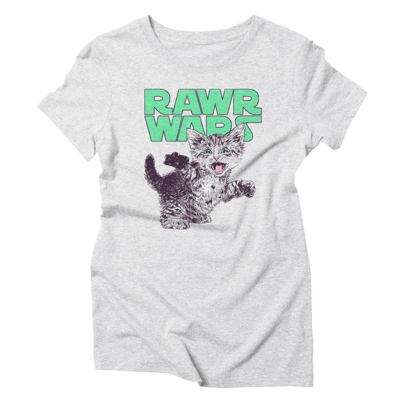 Rawr Wars Women's Triblend T-Shirt by Hillary White