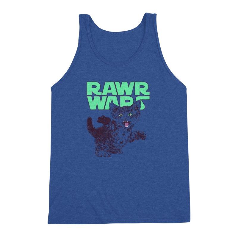 Rawr Wars Men's Triblend Tank by Hillary White
