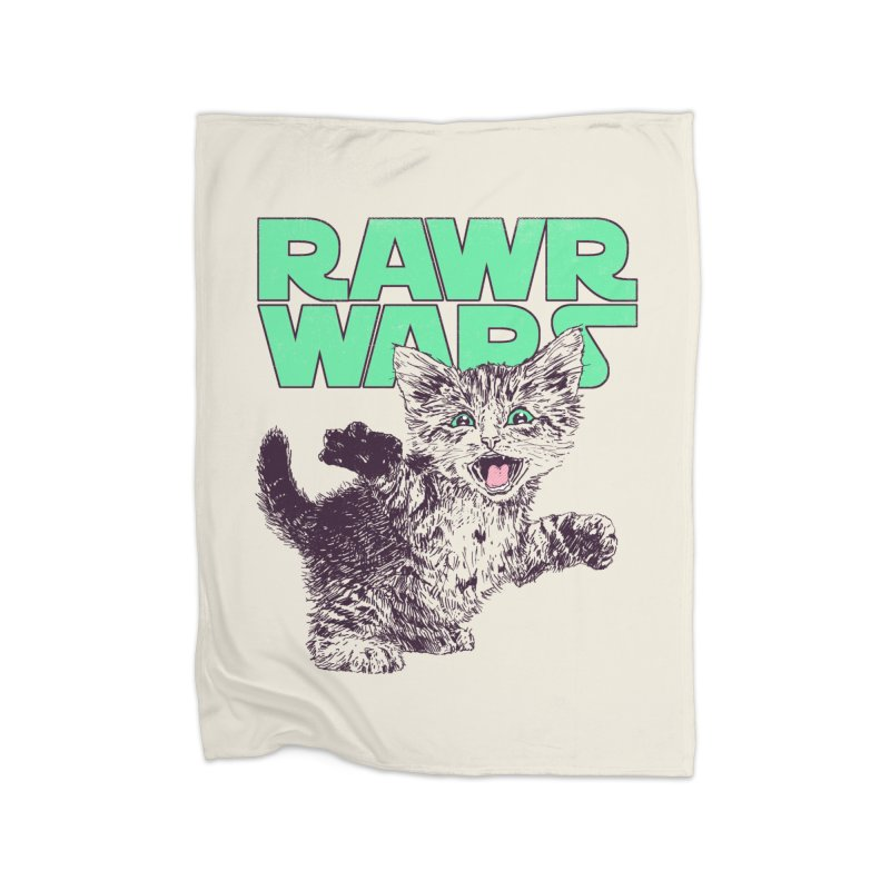 Rawr Wars Home Fleece Blanket Blanket by Hillary White