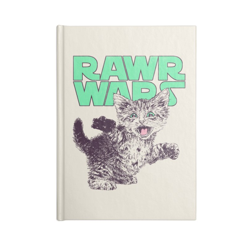 Rawr Wars Accessories Blank Journal Notebook by Hillary White