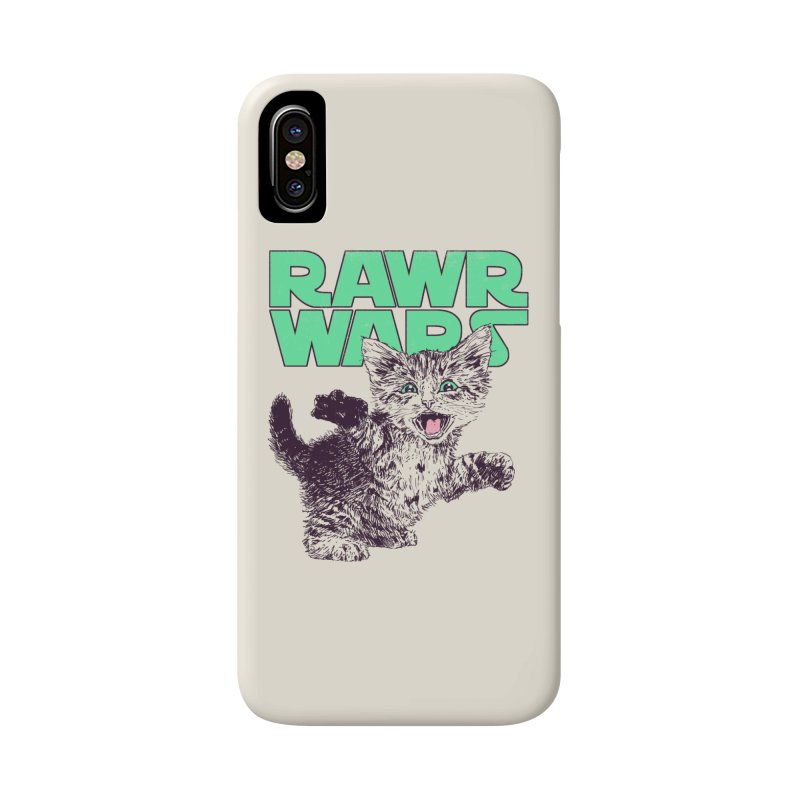 Rawr Wars Accessories Phone Case by Hillary White