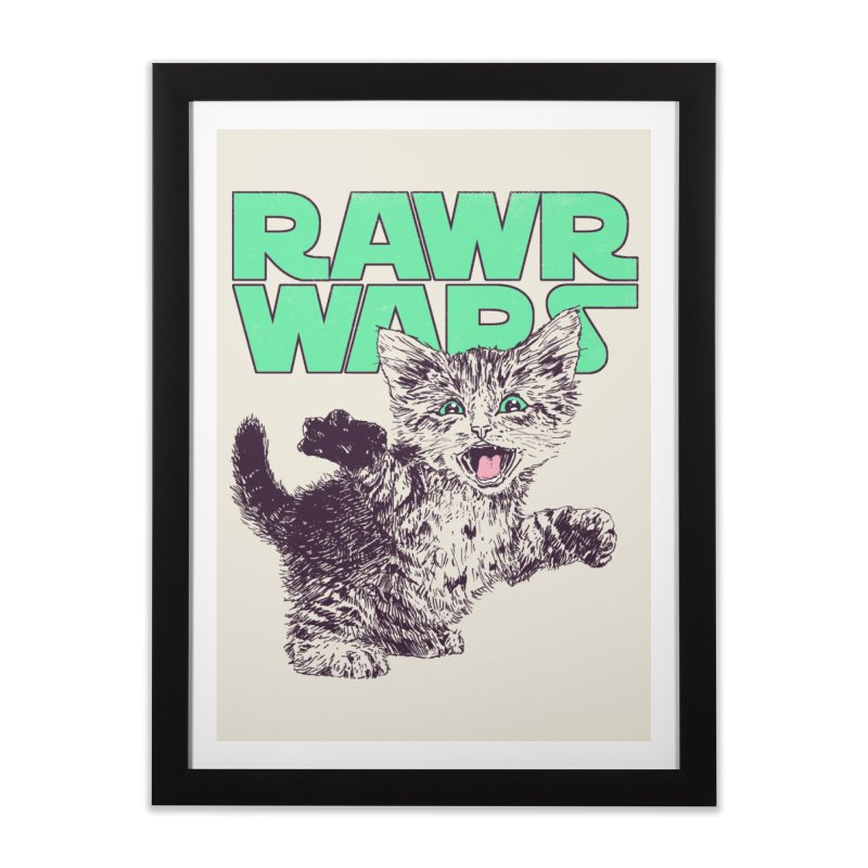 Rawr Wars Home Framed Fine Art Print by Hillary White