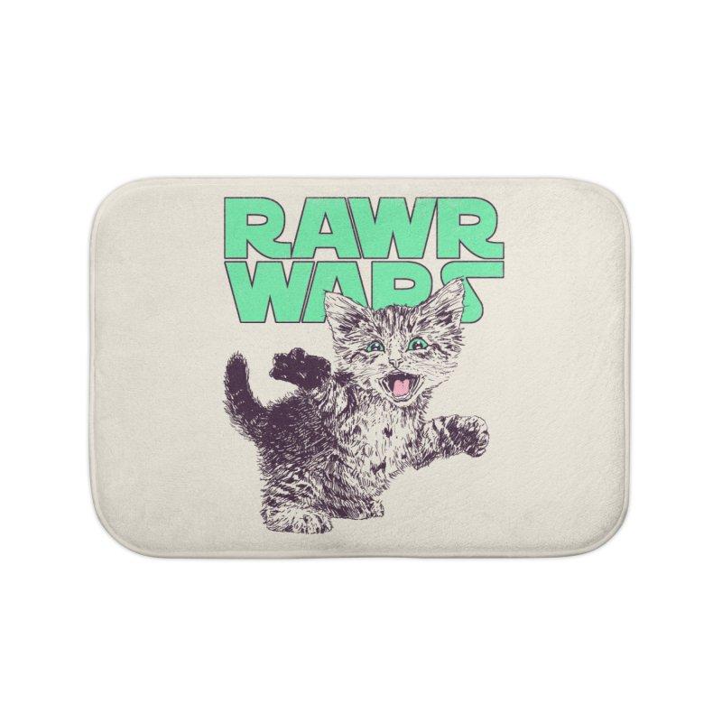 Rawr Wars Home Bath Mat by Hillary White