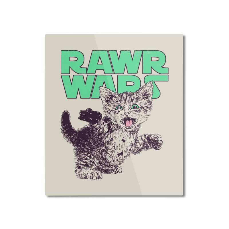 Rawr Wars Home Mounted Aluminum Print by Hillary White