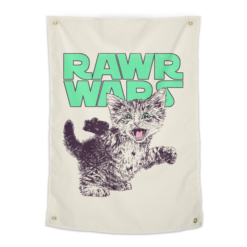 Rawr Wars Home Tapestry by Hillary White