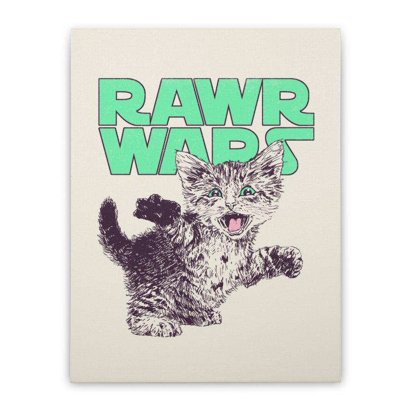 Rawr Wars Home Stretched Canvas by Hillary White