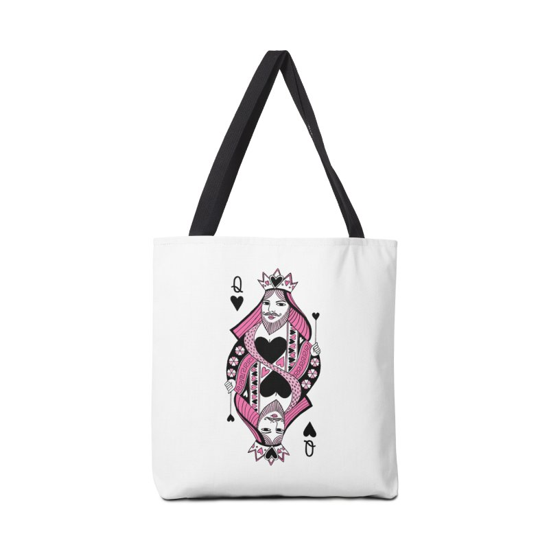 Queen Of Hearts Accessories Bag By Hinku S Artist