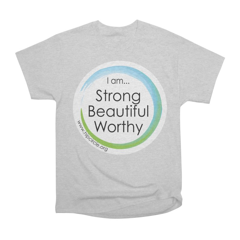 Hip Circle Strong Beautiful Worthy Side URL Men's T-Shirt by Hip Circle's Merchandise Shop