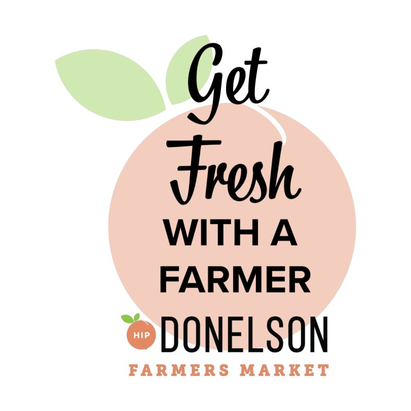 Get Fresh With A Farmer Women's V-Neck by Hip Donelson Farmers Market