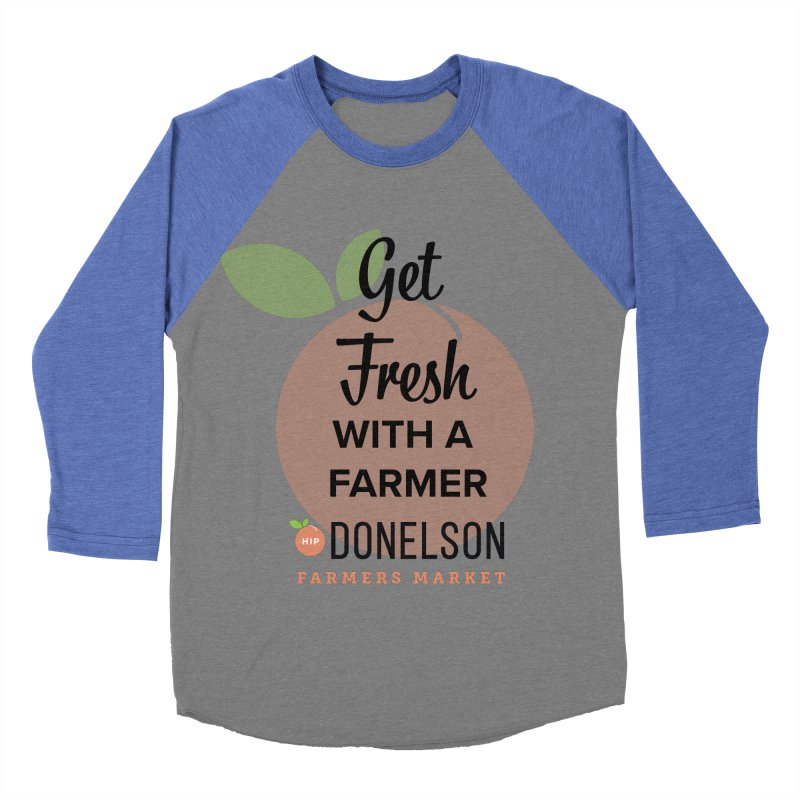 Get Fresh With A Farmer Men's Baseball Triblend Longsleeve T-Shirt by Hip Donelson Farmers Market
