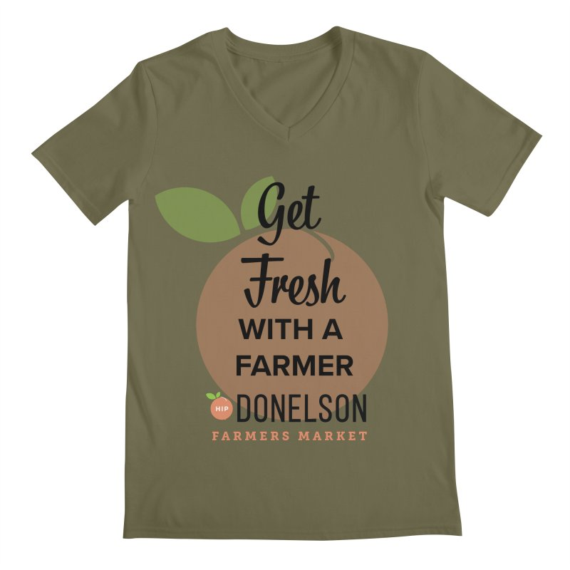 Get Fresh With A Farmer Men's Regular V-Neck by Hip Donelson Farmers Market