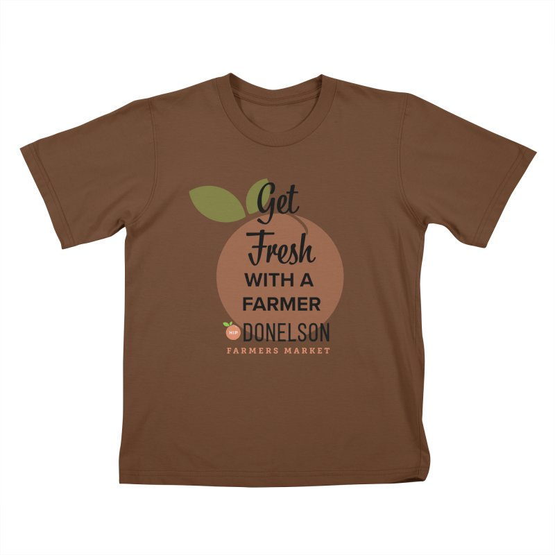 Get Fresh With A Farmer Kids T-Shirt by Hip Donelson Farmers Market
