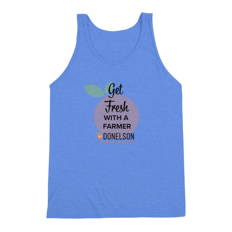 Get Fresh With A Farmer Men's Triblend Tank by Hip Donelson Farmers Market