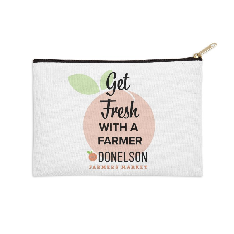 Get Fresh With A Farmer Accessories Zip Pouch by Hip Donelson Farmers Market