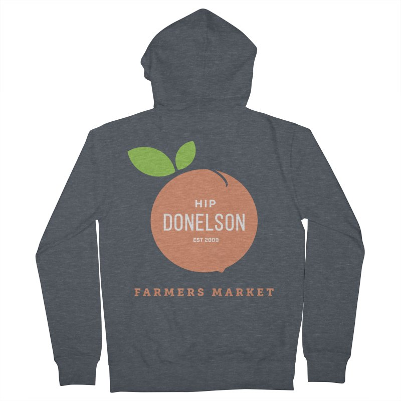 Farmers Market Logo Men's French Terry Zip-Up Hoody by Hip Donelson Farmers Market