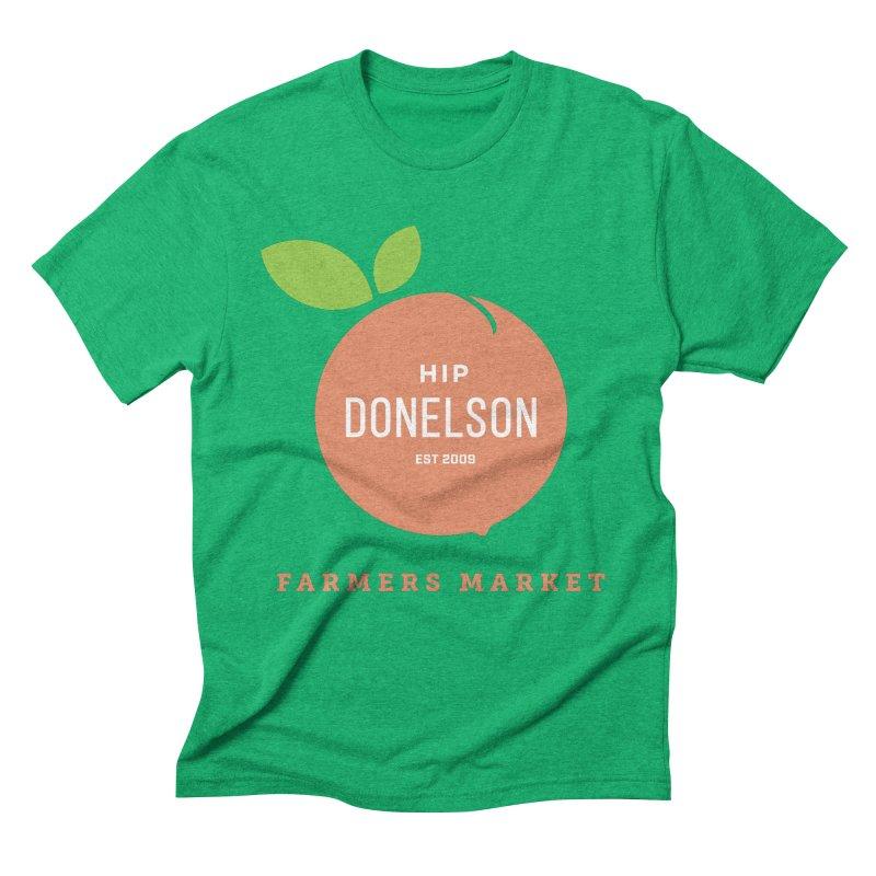 Farmers Market Logo Men's Triblend T-Shirt by Hip Donelson Farmers Market