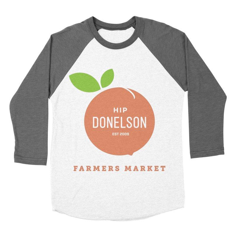 Farmers Market Logo Men's Baseball Triblend Longsleeve T-Shirt by Hip Donelson Farmers Market