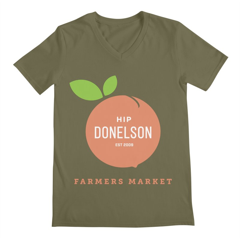Farmers Market Logo Men's Regular V-Neck by Hip Donelson Farmers Market