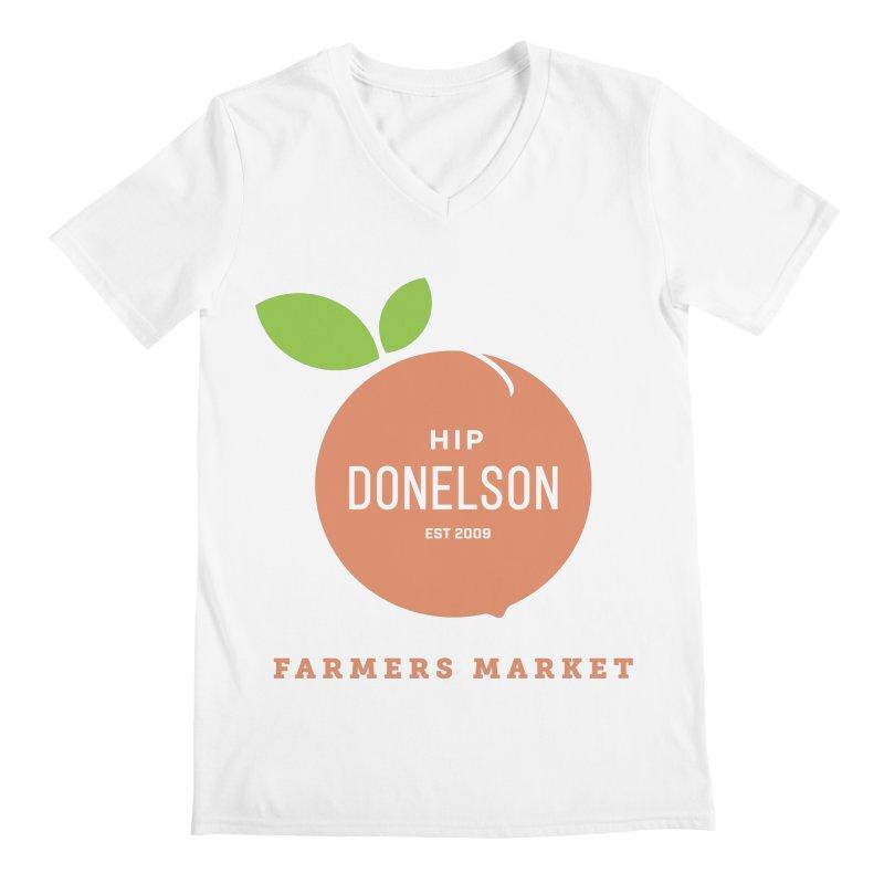 Farmers Market Logo Men's V-Neck by Hip Donelson Farmers Market