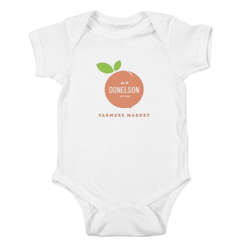 Farmers Market Logo Kids Baby Bodysuit by Hip Donelson Farmers Market